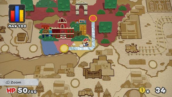 Paper Mario Color Splash Map Screen