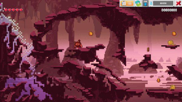 Caveman escapes a flood